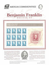 #513 50c Ben Franklin Pacfic 97 MS12 #3139 USPS Commemorative Stamp Panel