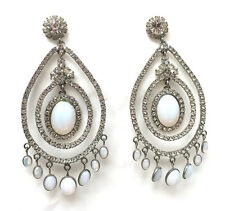Butler and Wilson Clear Cabochon & Crystal Large Gala  Earrings Vintage NEW