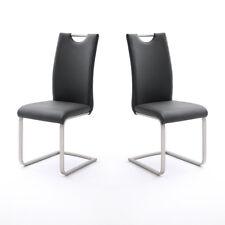 Schwingstuhl 4er Set Paulo Esszimmerstuhl Stuhl in schwarz und Edelstahl