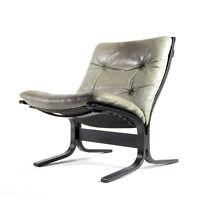 Retro Vintage Leather Ingmar Relling Siesta Chair Armchair Danish 60s 70s Nordic