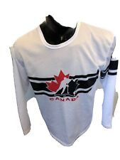 MENS Large Hockey Jersey 2010 Vancouver Olympic Team Canada Molson Canadian Beer