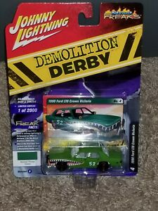 Johnny WHITE Lightning Demolition Derby 1990 FORD LTD CROWN VICTORIA 1:64 Chase