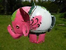 Elephant Tea Light Candle Holder Metal Éléphant Tenture Lanterne-Pink Elephant