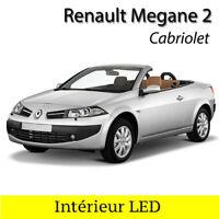 Kit ampoules à LED éclairage intérieur Blanc pour Renault Megane 2 CC Cabriolet