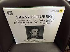 SCHUBERT Overture in C/String Quintet in C Major LP MHS St. Luke's Chamber Ensem