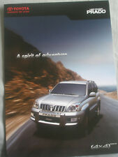 Toyota Prado 90 Brochure c2009 Emiratos Árabes Unidos Mercado Texto Inglés
