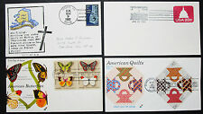 US Postage Set of 4 Covers Letters Envelopes Illustrated FDC USA Briefe (H-8306