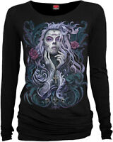 Spiral Direct ROCOCO SKULL Long Sleeve Viscose/Gothic/Angel/Fairy/Roses/Goth/Top