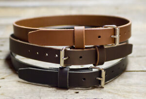 """1 1/4"""" LEATHER  BELT Handmade WITH ROLLER BUCKLE CCW TOOL HIGH QUALITY USA MADE"""