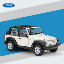 Car Model Toys 1/24 2007 Jeep Wrangler Rubicon Convertible Diecast Gift By Welly