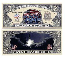 Space Shuttle  Challenger  SEVEN   DOLLAR  BILL