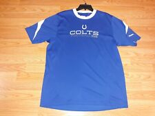 Indianapolis Colts shirt By Reebok Men's Size Large 100% Polyester Blue & white
