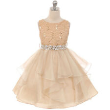 Flower Princess Girl Dresses Wedding Birthday Party Rectical Dance Graduation