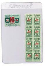 8 S & H Vintage Green Stamps MINT Fifties? Sixties? PLUS BONUS A RARE 10 STAMP