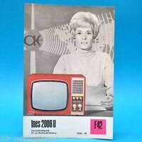 Fernsehtischgerät Ines 2006 U DDR 1970 47-Bildröhre   Prospekt Werbung DEWAG F42