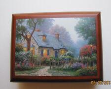 "Thomas Kinkade Wooden  Music Box  - ""Foxglove Cottage"" NIB Item# 0110812009"