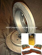 DRILLED & SLOTTED Peugeot 308 2007 onwards REAR Disc brake Rotors & PADS