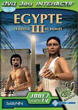 3934 // DVD JEU INTERACTIF EGYPTE LE DESTIN DE RAMSES 3 NEUF