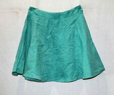 MOOLOOLA Brand Teal Faux Suede Skater Skirt Size 8 BNWT #TB117