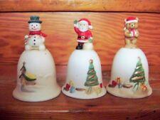 @Vintage@ Campana Navidad Cerámica Varios Motivos en Estilo el 50er