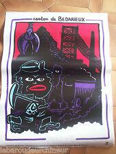 Affiche de Di Rosa signé dans la planche. Canton de Bedarieux