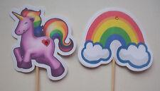 Handmade Unicorn food picks / cupcake toppers