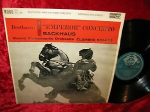 1957 UK NM ACL 98 MONO BEETHOVEN EMPEROR BACKHAUS VPO KRAUSS