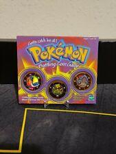 POKEMON 1999 Battling Coin Game Hasbro brand, opened missing case.