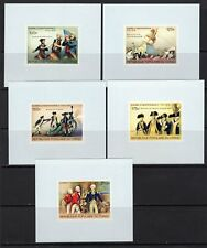 Congo 1976 US Bicentennial Set of 5 Imperf Deluxe Sheets MNH