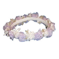 White & Lavender Flower Girl Head Piece halo wedding