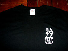 Tri-C Jazz Fest Cleveland 2016 Crew Black T-Shirt Medium Cuyahoga Comm College