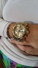 Invicta 80069 Pro Diver Scuba Swiss Chronograph 18k Gold Plated Bracelet Watch
