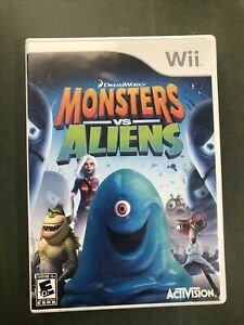 Monsters vs. Aliens Nintendo Wii, 2009 COMPLETE!!  GOOD COND!! FREE SHIP!!
