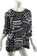 BITTE KAI RAND 1981 Black/Gray 100% Rayon 'Flock Print' Shirt - NWT - M - $294