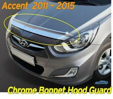 Chrome Bonnet Hood Guard Garnish Deflector K-896 for Hyundai ACCENT 2011 ~ 2016