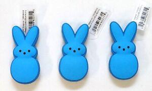 New Peeps X Crocs Blue Bunny Jibbitz Set Of 3 Crocs Shoe Charms
