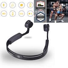 Bluetooth 4.1 Stereo Wireless Bone Conduction Headset Kopfhörer Sport Fitness