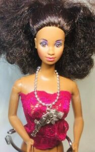 "Gun With Rose Necklace For 11 1/2"" Fashion Dolls Barbie, Poppy, Skipper, KK01"