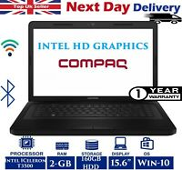 "Compaq Presario CQ56 15.6"" Laptop Intel Celeron 2.10Ghz 2GB RAM 160GB HDD Win 10"
