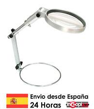 LUPA DE MESA PLEGABLE X2 CON LUZ LED 130MM