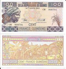 GUINEA 100 FRANCS 2015 LOTE DE 5 BILLETES