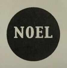 Unmounted rubber stamp Solid NOEL Circle
