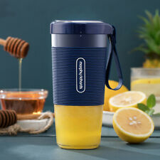 Portable Usb Electric Fruit Juicer Bottle Blender Household Small Machine orange