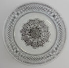 Round Glass Serving Plate with Spider Web Design