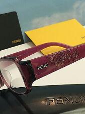 Genuine Fendi Italy Womens Eyeglasses Pink Purple Frame F924R 52-15-135 New Sale