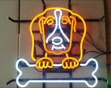 "Neon Light Sign 24""x20"" Dog Bone Grooming Beer Bar Artwork Decor Lamp"