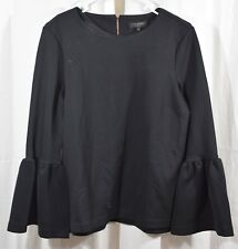 Ted Baker London Lolare Bell Sleeve Top In Black Size 3
