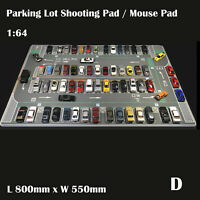 1/64 Parking Lot Mat Model Car Vehicle Scene Display Large Garage Toy Mouse Pad
