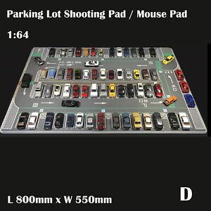 1/64 Parking Lot Mat Model Car Vehicle Scene Display Large Garage Toy Mouse Pad