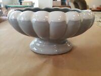 "VINTAGE Oval Grey with White drip glaze Pottery Cali USA #908 PLANTER 7x4"""